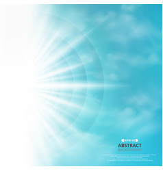 abstract of blue sky with sun burst in side vector image
