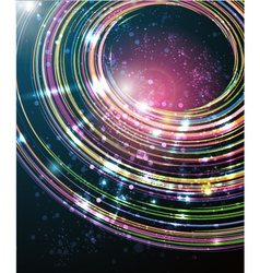 abstract perspective circle background vector image vector image