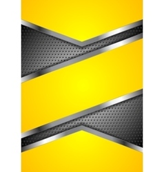 Abstract yellow perforated background with vector