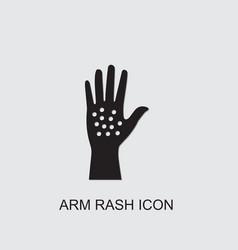 Arm rash icon vector