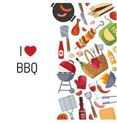 Barbecue or grill cooking vector