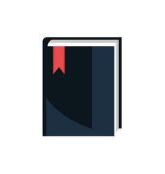 book bookmark office work business equipment icon vector image