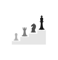 business conceptual with chess symbols vector image