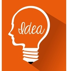 Cartoon brain idea creative design isolated vector