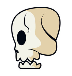 cartoon skull bone fantasy character vector image