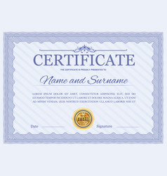 certificate template diploma border design vector image