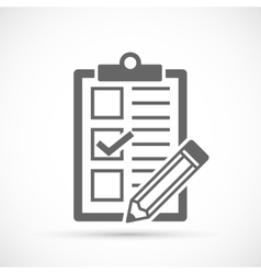 Checklist with tick and pencil vector image