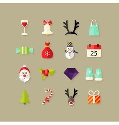 Christmas Flat Icons Set 2 vector image