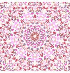 Colorful dynamic circular floral ornament pattern vector
