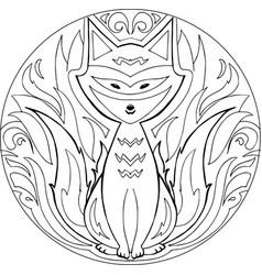 Coloring firefox mandala vector