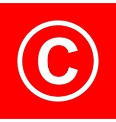 Copyright sign vector