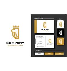creative professional trendy lion king logo vector image