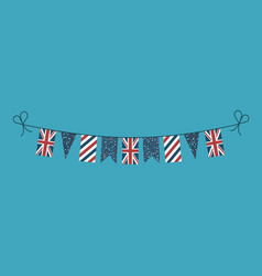 Decorations bunting flags for united kingdom vector