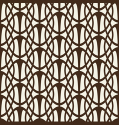 Decorative lattice with intersecting ellipses vector