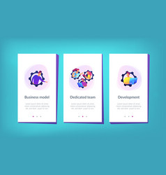 Dedicated team it app interface template vector