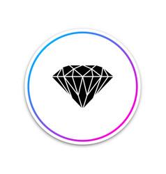 diamond sign isolated jewelry symbol gem stone vector image