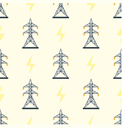 Electric pole seamless pattern vector