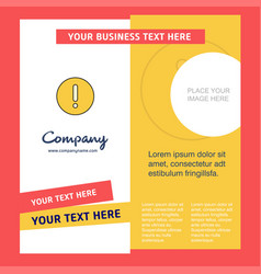 error company brochure template busienss template vector image