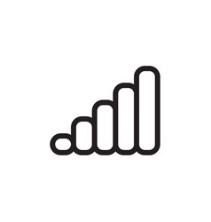 flat line signal data single icon symbol sign vector image