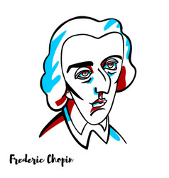 frederic chopin portrait vector image