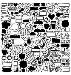 Hand drawn decor elements set vector