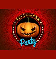 happy halloween pumpkin party vector image