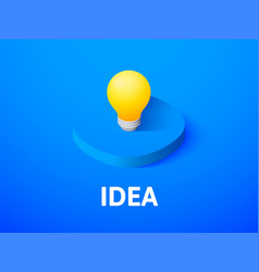 idea isometric icon isolated on color background vector image