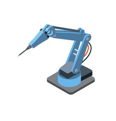 industrial robotic machinery on white vector image