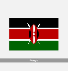 Kenya kenyan national country flag banner icon vector