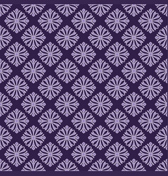 Korean traditional purple flower pattern vector