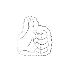 Like line icon isolated on white bacground vector