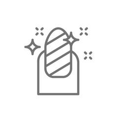magnetic nail polish manicure salon line icon vector image