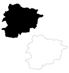 map andorra isolated black vector image