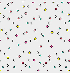 Memphis patterns background vector