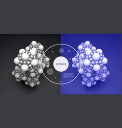 molecule 3d concept science vector image