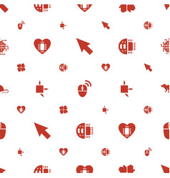 Mouse icons pattern seamless white background vector