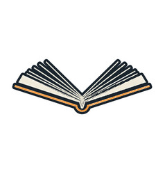 open book sketch vector image