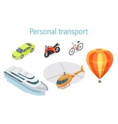 Personal Transport Infographic Statistics of Usage vector