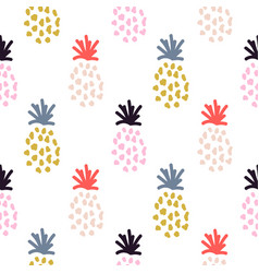 pineapple summer colorful tropical textile vector image