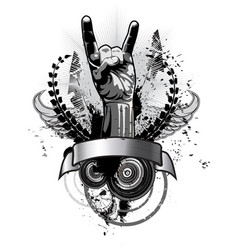 poster on a theme music in a grunge style vector image
