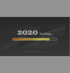 progress bar counting down for new 2020 year s eve vector image