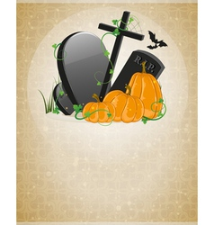 Pumpkins and graves vector