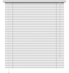 Realistic home related blinds isolated on white vector