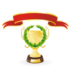 Ribbon cup vector