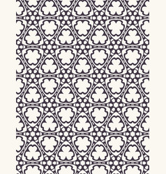 Seamless pattern hand drawn ornamental tracery vector