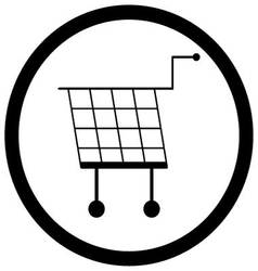 Shopping basket icon monochrome vector image
