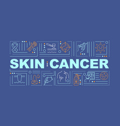 Skin cancer word concepts banner vector
