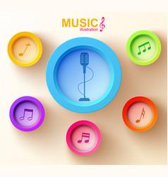 sound design template vector image