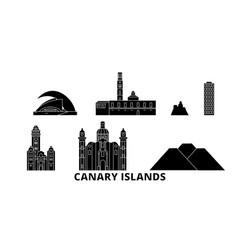 spain canary islands flat travel skyline set vector image