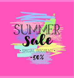 summer sale template 6 vector image